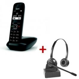 Gigaset AS690 DECT + Duo Headset
