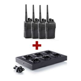 4er Pack Midland G15 Funkgeräte + Mehrfachladegerät C1251