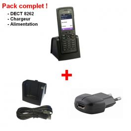 Alcatel-Lucent 8262 Komplettpaket mit Ladegerät und Netzteil