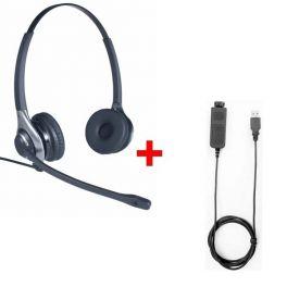 Pack: OD HC 45 Headset + Cleyver USB80-Kabel