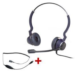 Pack: Cleyver HC25 Headset + USB Adapterkabel DSU08M