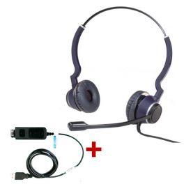 Pack: Cleyver HC25 Headset + USB Adapterkabel DSU011M