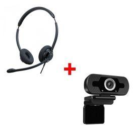 Cleyver HC65 USB Duo + Webcam USB HD Desktop