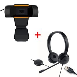 Dell Pro UC150 USB headset + USB webcam for PC