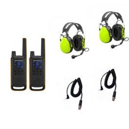 2er Set Motorola T82 Extreme mit 2 Peltor Gehörschutzheadsets + Peltor Anschlusskabel