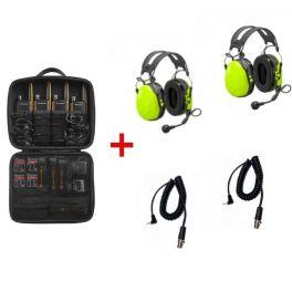 4er Set Motorola T82 Extreme mit 2 Peltor Gehörschutzheadsets + Anschlusskabel
