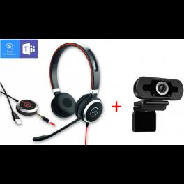 Jabra Evolve 40 Duo + HD Webcam