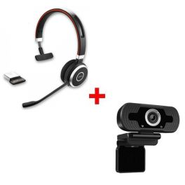 Jabra Evolve 65 MS Mono + Webcam USB HD Desktop