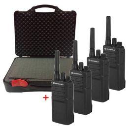 Pack: 4 Motorola XT420 Funkgeräte mit Tragekoffer