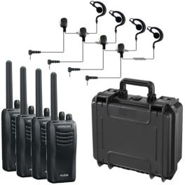 Pack: Maleta con 4 Kenwood Protalk 301 + 4 Micro-auriculares