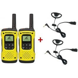 Vorteilspack: 2 Motorola T92 + 2 Ohrmuscheln