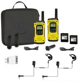2er Set Motorola T92 H2O + 2 Ohrhaken-Headset für Motorola