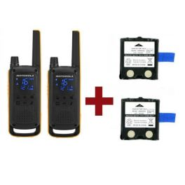 Motorola Talkabout T82 Extreme x 2 + Ersatzbatterien x 2