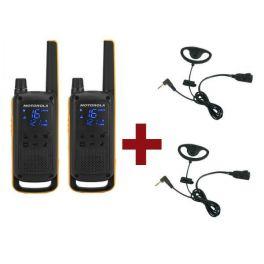 Pack Motorola Talkabout T82 Extreme + 2 Kits Ohrbügel PTT