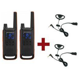 2er Set: Motorola Talkabout T82 + 2 Kit Earloop