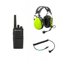 Set: Motorola XT420 mit PELTOR Gehörschutz + 3M FLEX-Kabel
