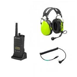 Set: Motorola XT460 mit PELTOR Gehörschutz + 3M FLEX-Kabel