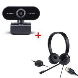 Dell Pro UC150 USB headset + Midland W199 Webcam