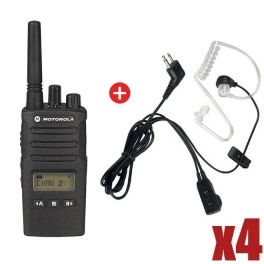 4er Pack Motorola XT460 + 4 Bodyguard Freisprech-Kits