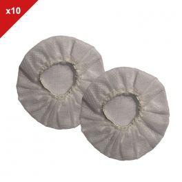 10 Paar weiße Hygieneaufsätze für Headsets