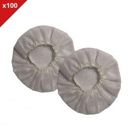 100 Paar weiße Hygieneaufsätze für Headsets