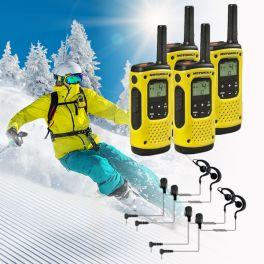 4er Set Motorola T92 H2O + 4 Ohrhaken Headsets