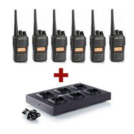 6er Pack Midland G18 Funkgeräte + C1251 Mehrfachladegerät