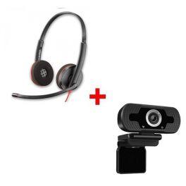 Plantronics Blackwire 3220 USB +   Webcam USB HD Desktop
