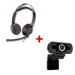 Plantronics Blackwire 5220 USB-A + 3,5mm + Webcam USB HD Desktop