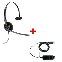 Plantronics EncorePro HW510V + USB-Adapterkabel DSU011M