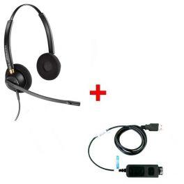 Plantronics Encore Pro HW520 + USB-Adapterkabel DSU011M