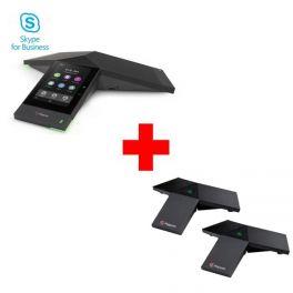 Pack: Polycom Trio 8500 - Skype for Business + 2 Zusatz-Mikrofone