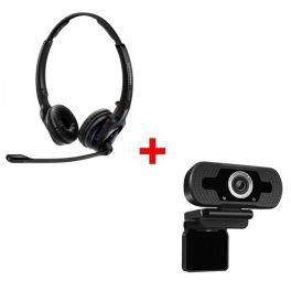 Pack: Sennheiser MB Pro 2 + Webcam USB HD Desktop