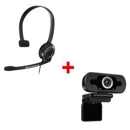 Sennheiser PC 7 USB + Webcam USB HD Desktop