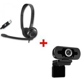 Sennheiser PC 8 USB  +  Webcam USB HD Desktop