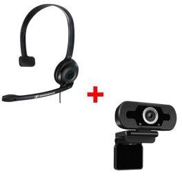 Sennheiser PC 2 Chat + Webcam USB HD Desktop