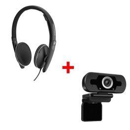 Sennheiser SC 160 USB + Webcam USB HD Desktop