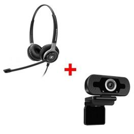 Sennheiser SC 660 USB ML + Webcam USB HD Desktop