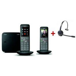Pack: Gigaset CL660 Duo + Cleyver HW10 GAP Headset