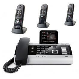 Pack: Gigaset DX800A (EU Version) + 3 Mobiltelefone R650H
