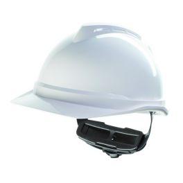 MSA V-Gard 500 Fas Trac III Schutzhelm mit Lüftung - Weiß