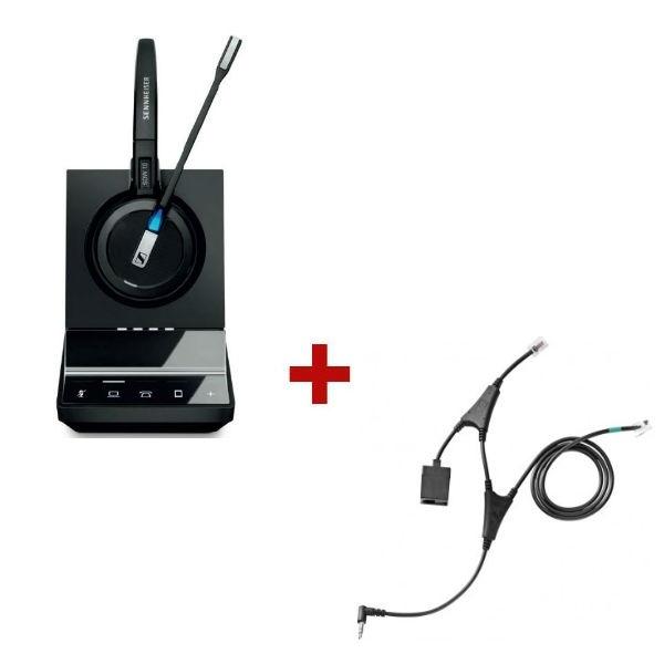 Pack für Alcatel: Sennheiser SDW5015 + EHS-Kabel