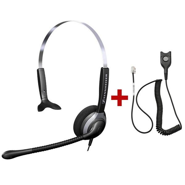 Pack: Sennheiser Headset SH 230 + QD-Kabel für Gigaset SL Telefone