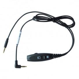 Klinkenschalterkabel für Alcatel S-Serie und Jabra Evolve