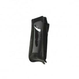 Schützende Ledertasche in schwarz für das Smartphone IS320.1