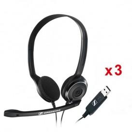 3er Pack: Sennheiser PC 8 USB