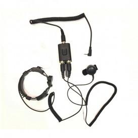 Funkgeräte Headset mit Kehlkopfmikrofon