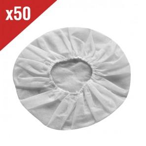 50 hygienische Baumwollüberzüge für Headsetohrpolster