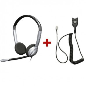 Pack: Sennheiser SH 350 + Sennheiser CSTD 01 QD-Kabel