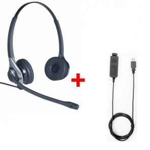 Pack: OD HC 45 Headset + Cleyver USB80-Kabel